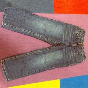 Fleece-lined kids jeans